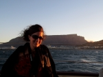cruising at dusk, south africa boat