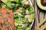 Garden Salmon Salad with Cilantro Lime Dressing Recipe