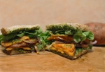 Sweet Potato Grilled Cheese with Spinach Pesto
