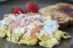 Smoked Salmon Eggs Scramble recipe by double dutch
