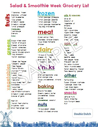 weekly healthy meal planner with grocery list akba greenw co