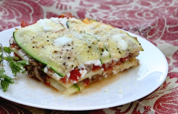 Turkey and zucchini baked lasagna