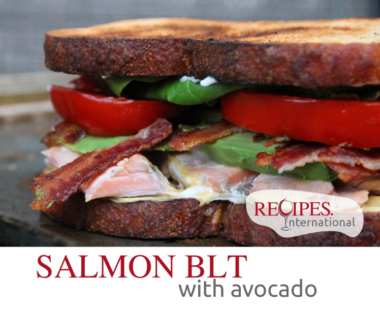bacon lettuce and tomato sandwich with avocado